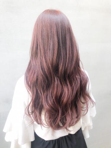 ロングヘアー 赤髪 レッドヘア ボルドーヘア