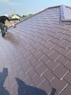 屋根コロニアルの塗装工事を施工してきました