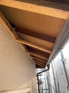 軒天の張替え工事を施工しました