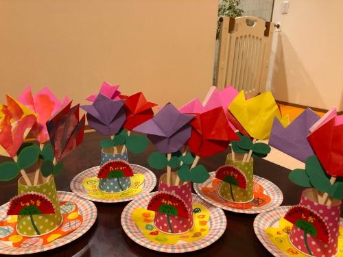 母の日、大好きなお母さんにお花のプレゼント!折紙に挑戦⭐︎