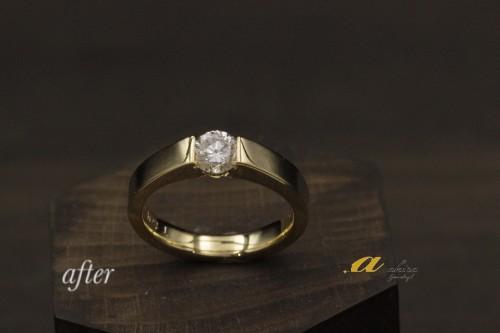 神奈川県からお越しのお客様婚約指輪のリフォーム