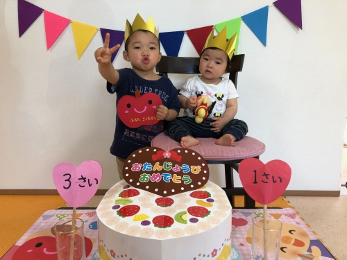 ファミリー託児所、誕生日会、特別な日、特別なふたり⭐︎