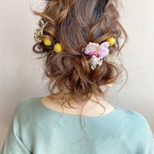 低め まとめ髪 アレンジ  カジュアルスタイル
