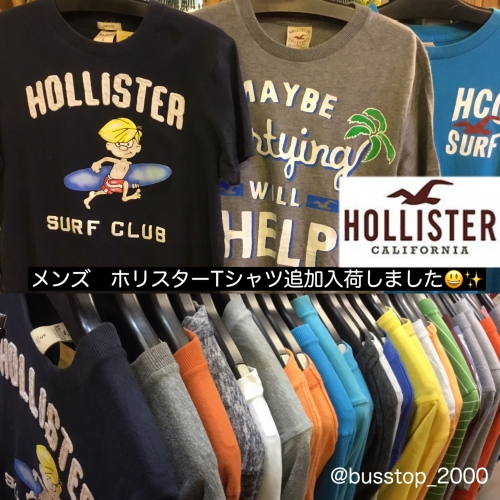 HOLLISTER☆Tシャツ追加入荷です!
