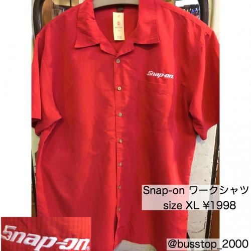 Snap-onワークシャツXL入荷しました!