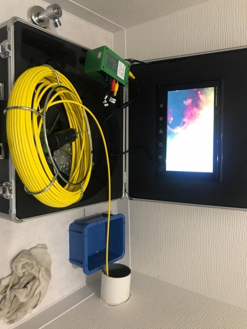 さいたま市にてカメラ調査及びトイレつまり修理実施。