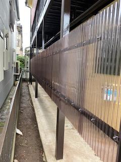 鶴ケ島市で共用部の目隠し工事を施工しました