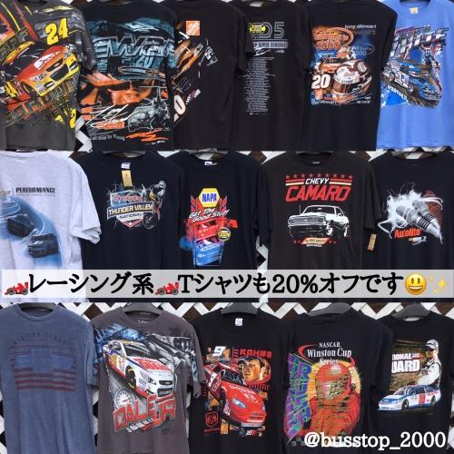 レーシング系Tシャツも20%オフです!