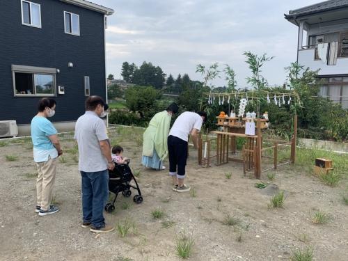 高崎市で平屋住宅の地鎮祭