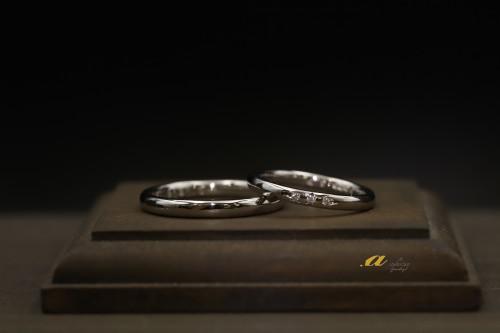 鍛造でシンプルな結婚指輪