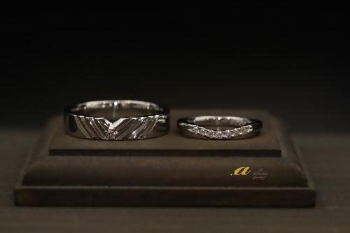 一宮市からご来店のお客様、記念の結婚指輪のオーダー