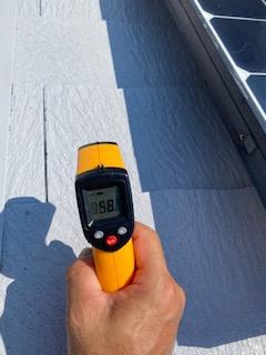 屋根遮熱塗装の温度測定致しました