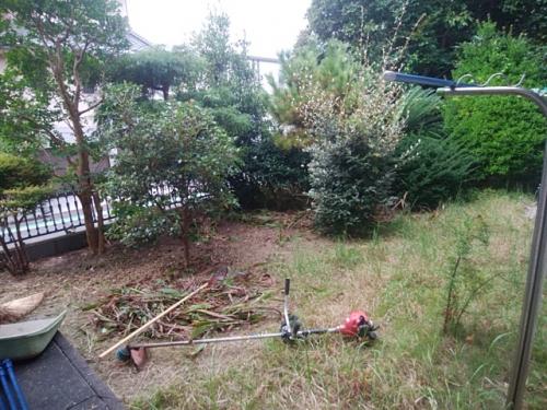 栄区で造園工事。
