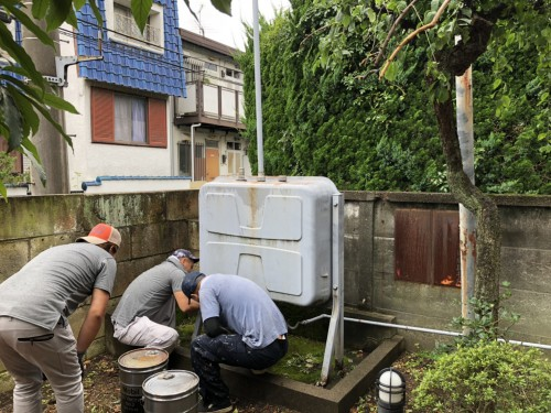 大田区にて灯油タンクの撤去作業実行!