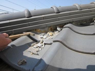 【旭区】瓦屋根の漆喰工事は手寧迅速施工のマルセイテックへ
