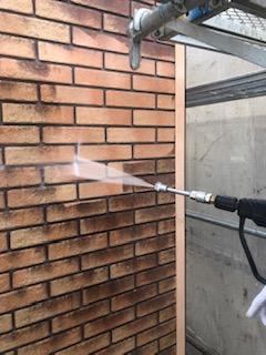 鶴ケ島市でタイルの高圧洗浄工事を施工しました