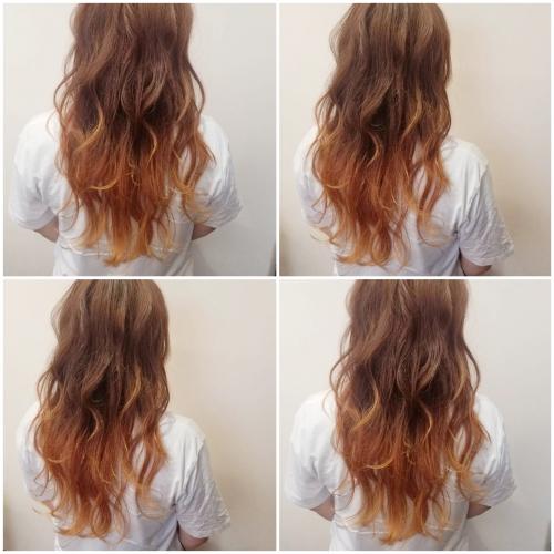 グラデーションカラー オレンジヘア