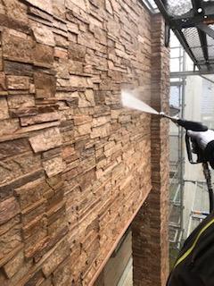 川越市でタイルの高圧洗浄工事を施工してきました