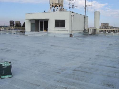 安行四季彩マットの屋上緑化、施工前!