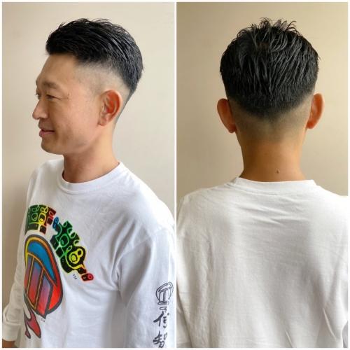 メンズカット ベリーショートヘア