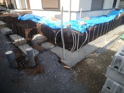 川崎市麻生区で外構工事。