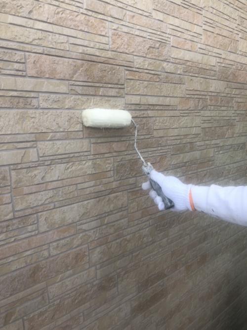 川越市でサイディングクリアー塗装工事を施工してきました