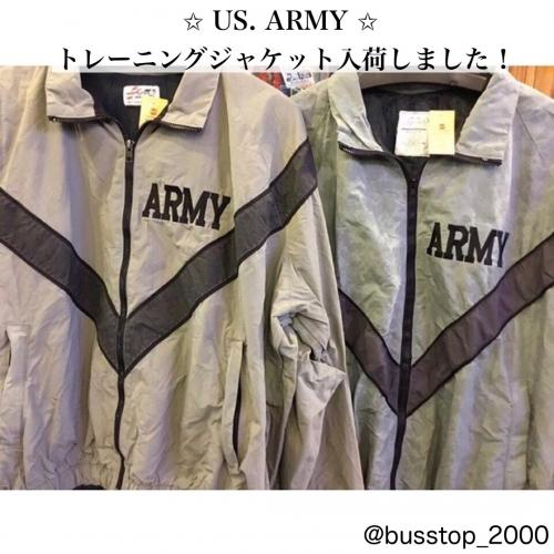 US ARMYナイロントレーニングジャケット入荷です!