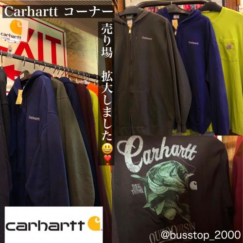 Carharttコーナー拡大しました!