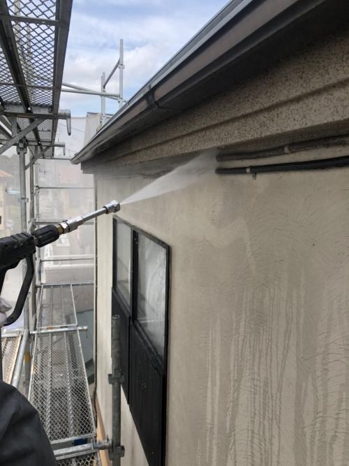 外壁高圧洗浄工事をしてきました