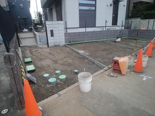 川崎市麻生区で外構工事です