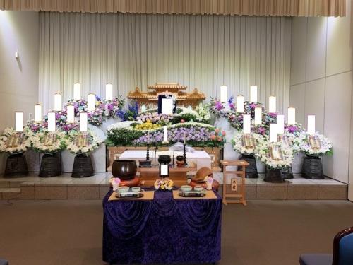 楢原斎場にて家族葬