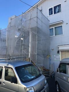 坂戸市で鉄骨階段ケレン工事をしてきました