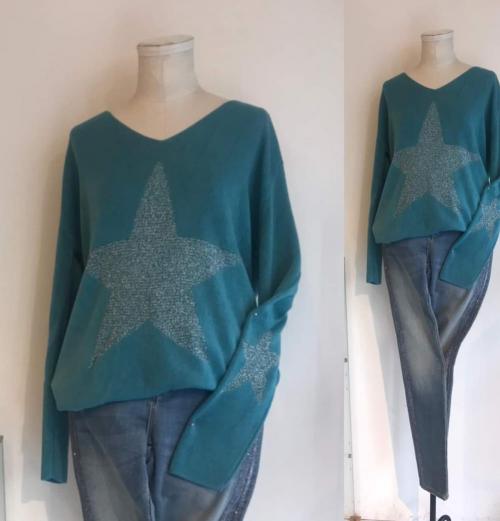 星モチーフセーター