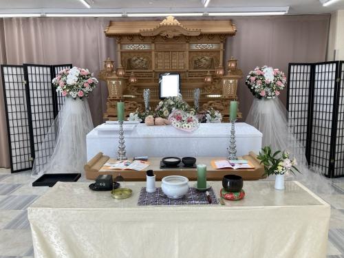 1日葬儀 藤沢市民の方の無宗教、思い出を語りながらのお式