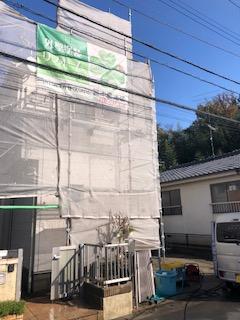 東松山市で外壁高圧洗浄工事を施工してきました