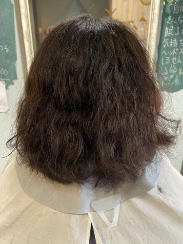 クセ毛のショート