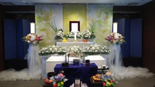 所沢市斎場にて1日葬