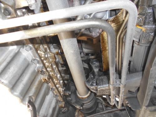 ボルボ850T5-RターボオイルリターンパイプOリング漏れ
