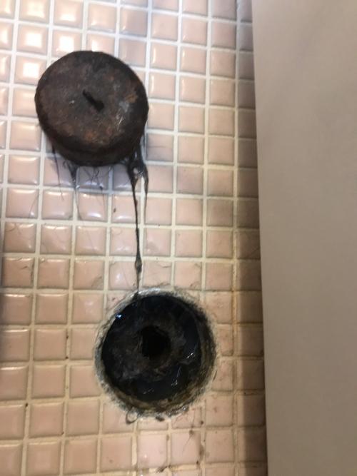 さいたま市にて浴室排水つまり修理実施。