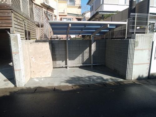 鎌倉市で駐輪場工事。