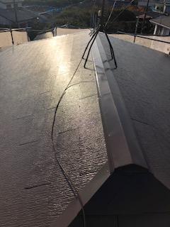 東松山市で屋根塗装工事を施工致しました