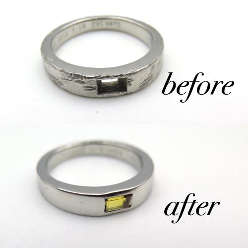 ハリーウィンストン結婚指輪修理