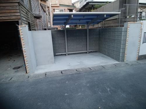 鎌倉市駐輪場工事。