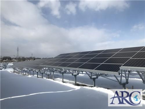 雪国の冬でも心配ないパネルの傾斜角度!自家消費型太陽光発電