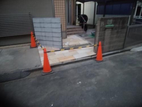 戸塚区で外構工事てす。