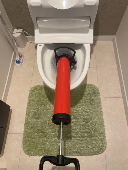 埼玉県さいたま市大宮区にてトイレつまり修理実施。