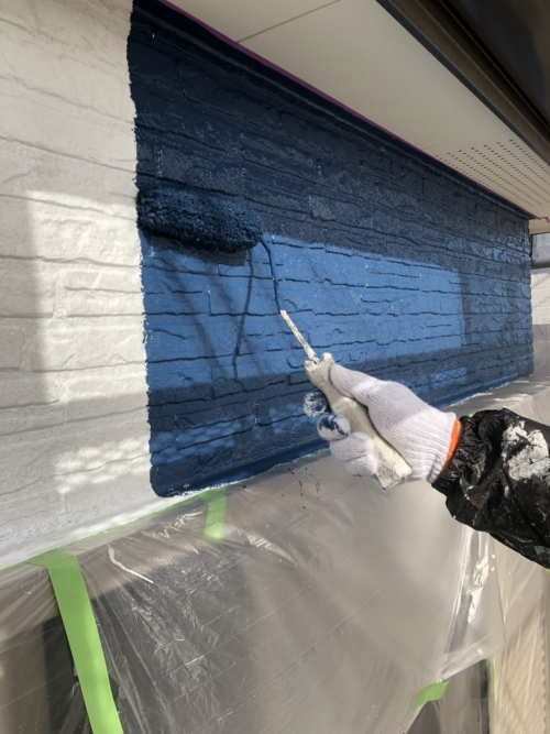 サイディング外壁塗装工事を施工してきました