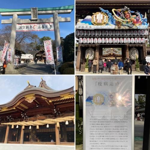 密になると怖いので、秦野出雲大社、寒川神社に早めのお参りです