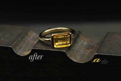シトリンの指輪をリフォーム千葉市中央区からご来店