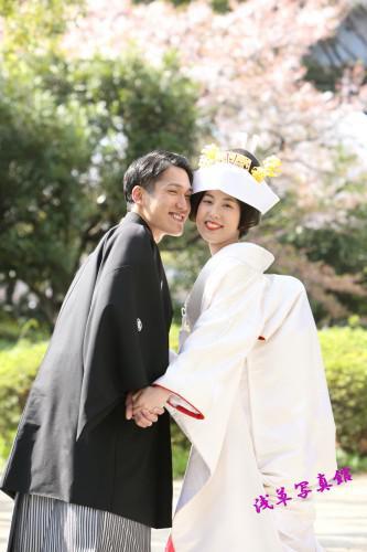 2021年の花見は、隅田川の桜をバックに結婚写真を写す!
